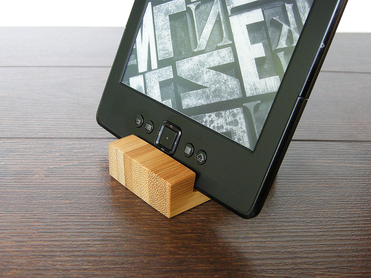 IPad Stand. Tiny IPhone Stand. Small Bamboo Iphone Stand. EBook Reader Stand.
