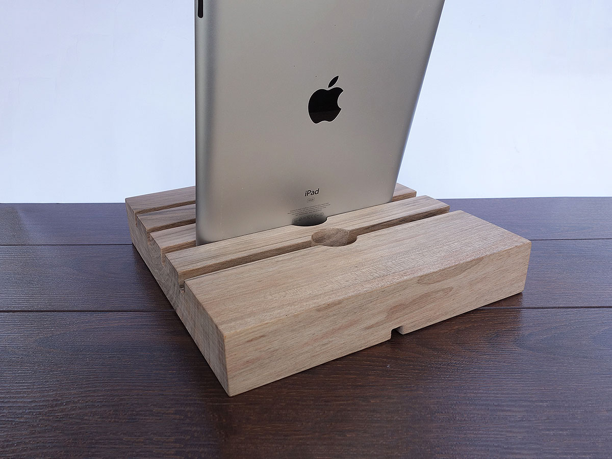 ipad air 2 docking station huge ipad dock 4 slot charging station walnut wood magowood. Black Bedroom Furniture Sets. Home Design Ideas