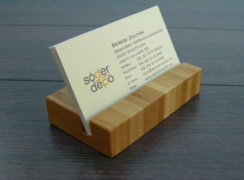 Wood Business Card Holder Bamboo 02