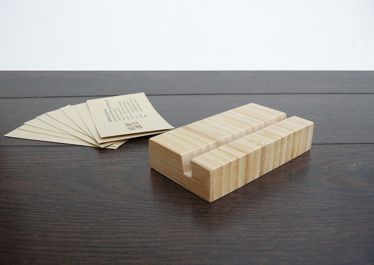 Wood Business Card Holder Bamboo 12