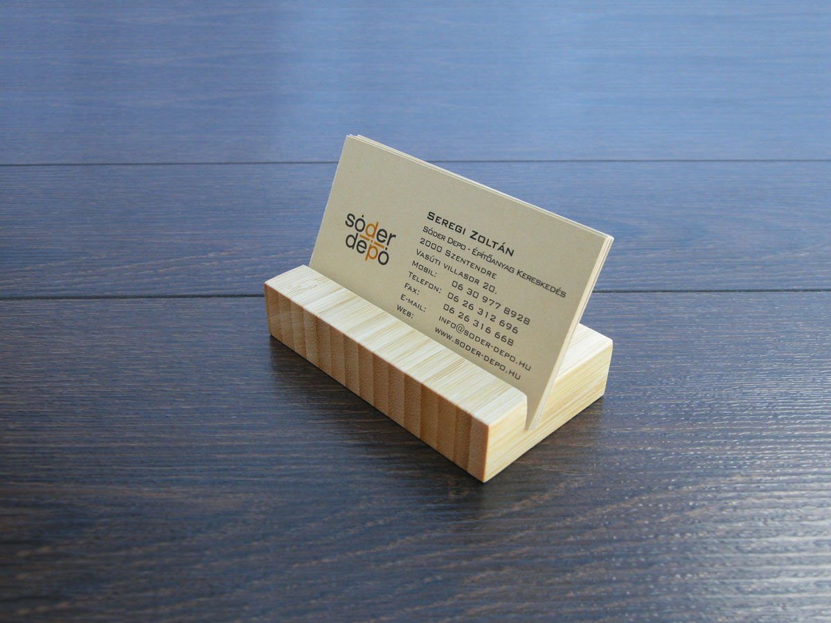 Wood Business Card Holder Bamboo 13