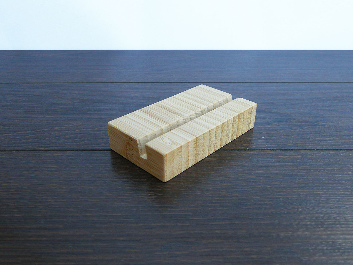 Wood Business Card Holder Bamboo 16