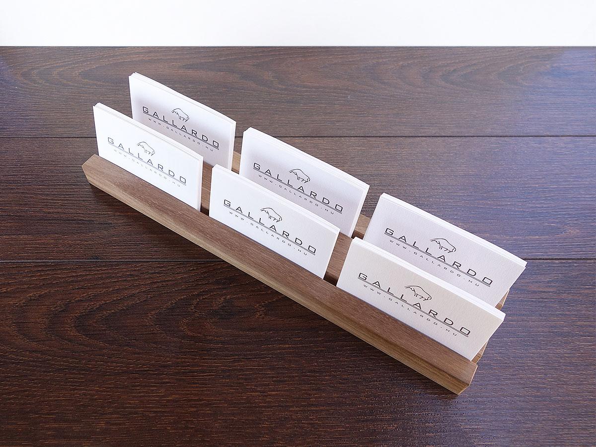 Wood Multiple Business Card Holder. 48 cm long Card Holder. - Magowood
