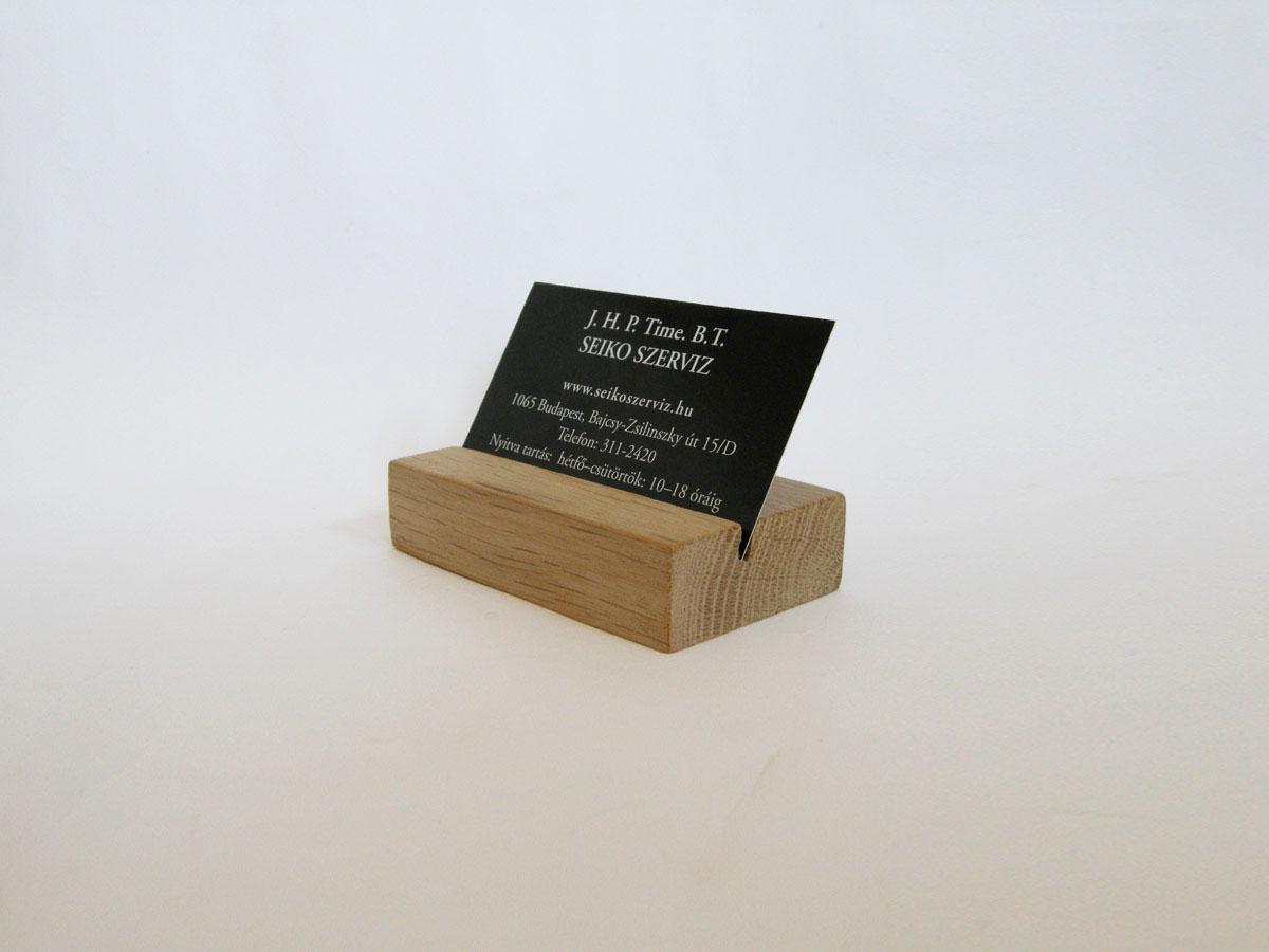 Wood Business Card Holder Oak 01