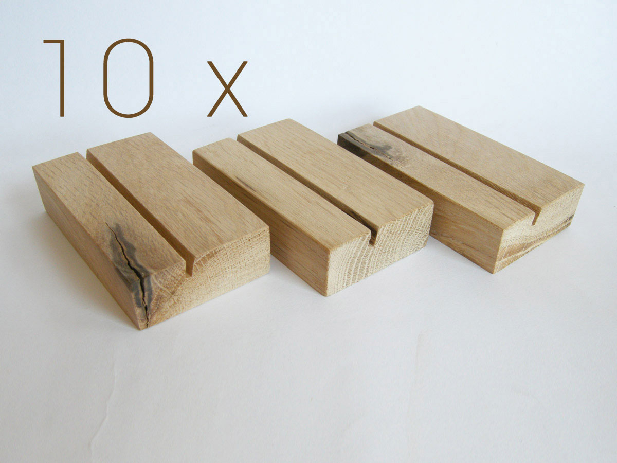 10 X Business Card Holder. Wood Business Card Holder. Oak Wood.