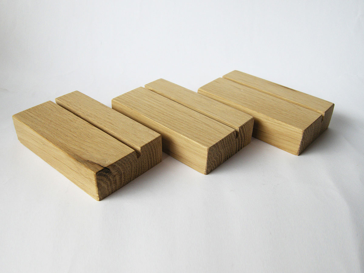Wood Business Card Holder Oak 10
