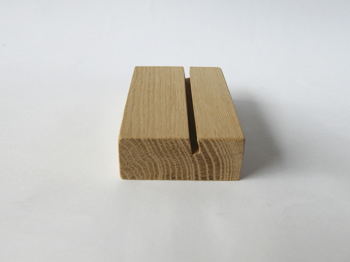 Wood Business Card Holder Oak 11