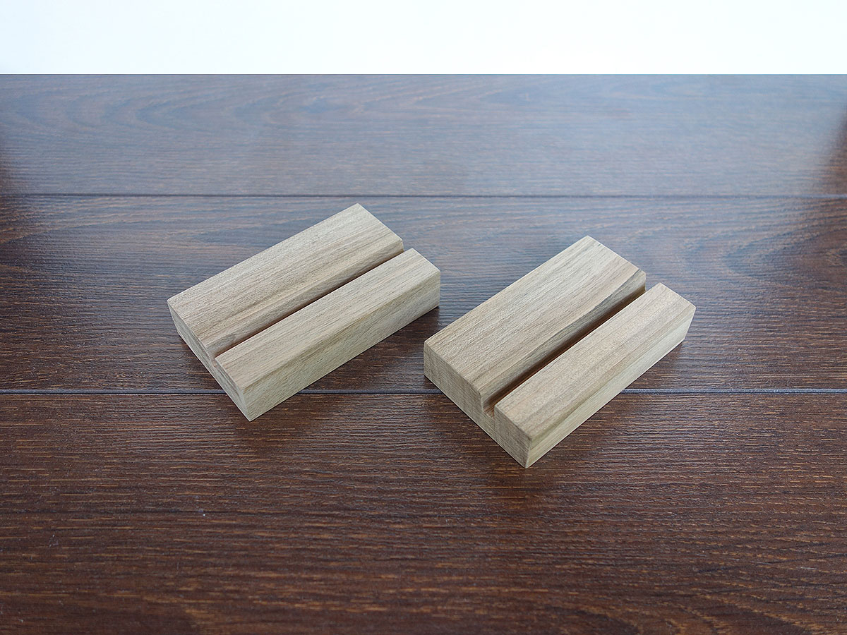 Wood Business Card Holder Walnut 02