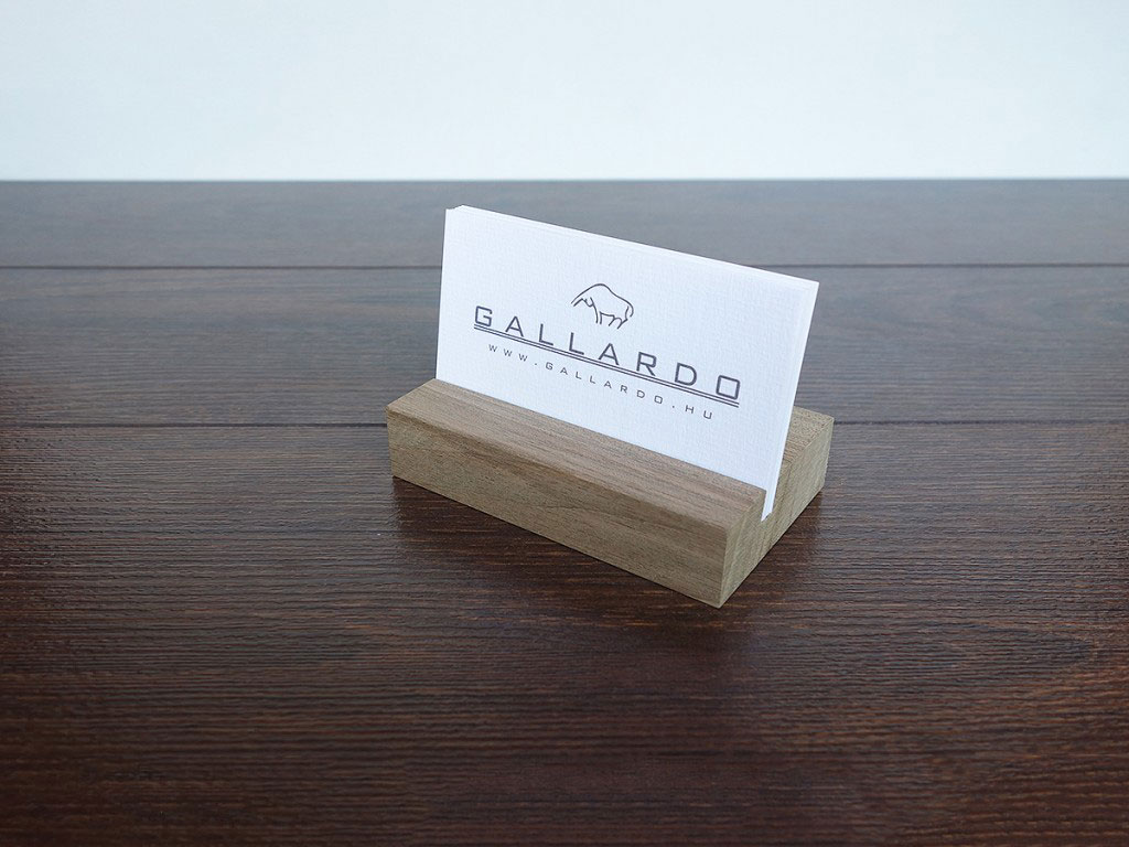 Business Card Holder Wood Business Card Holder Walnut