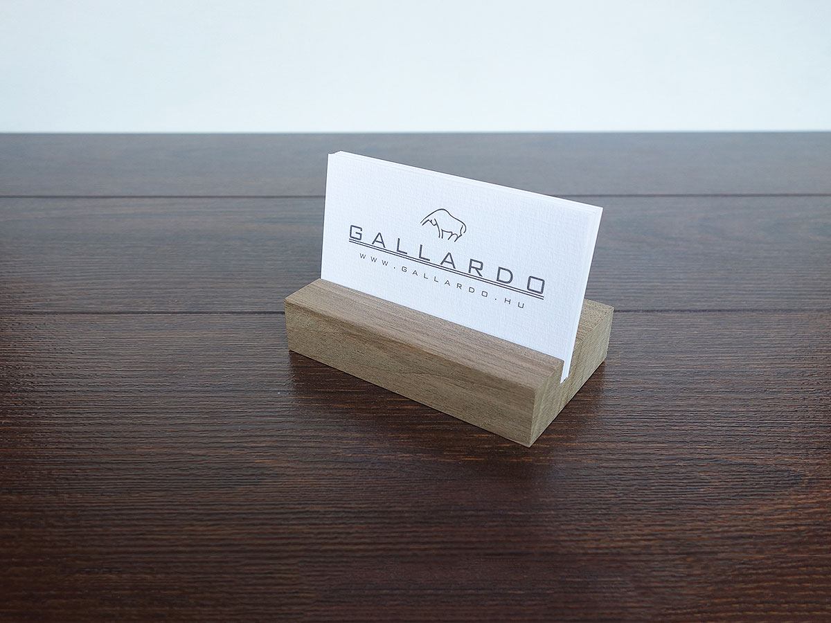Business Card Holder. Wood Business Card Holder. Walnut Wood.