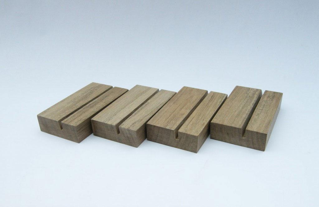5 x Business Card Holder Wood Business Card Holder
