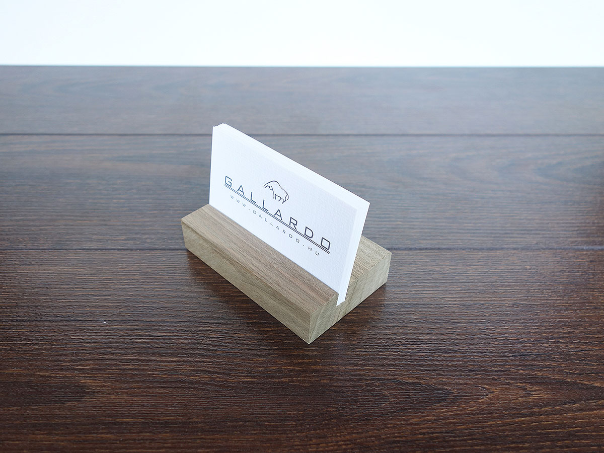 Wood Business Card Holder Walnut 04