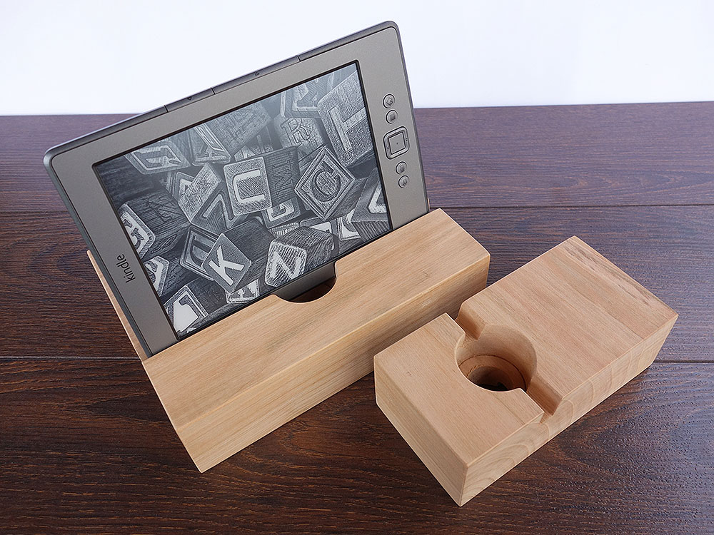 IPad AIR 2 + IPhone 6 Docking Station. IPad Dock. IPhone Dock. Cherry Wood Stand.