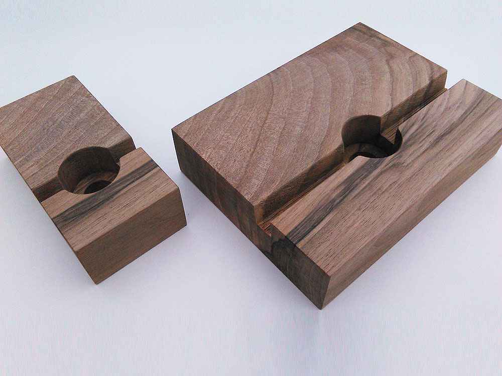 Wood Docking Station Set Walnut 01