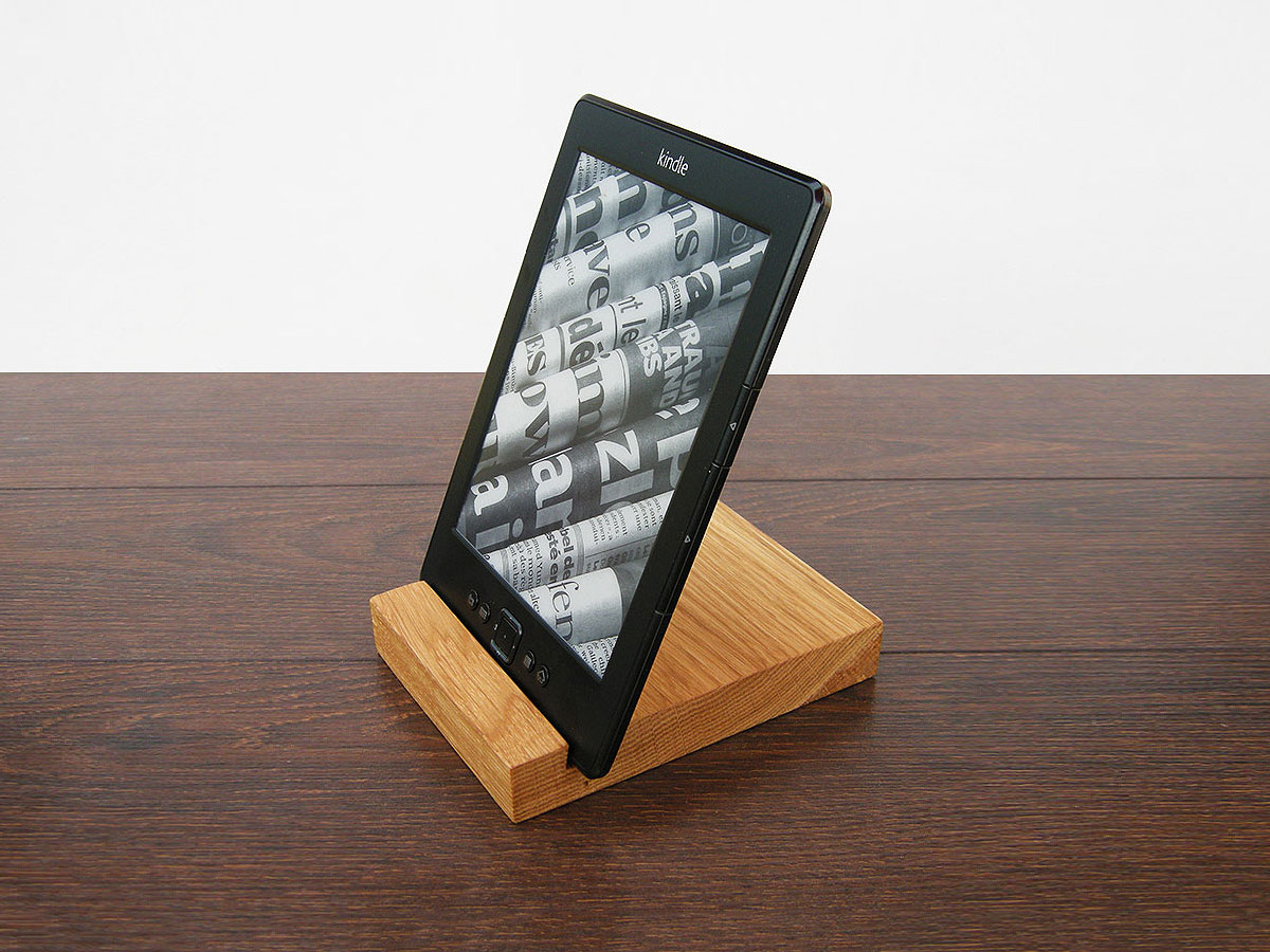 IPad Stand. Wood IPad Stand. Wooden IPad Stand. Oak IPad Stand.. Full resolution‎  portrait, nominally Width 1200 Height 900 pixels, portrait with #A0702B.