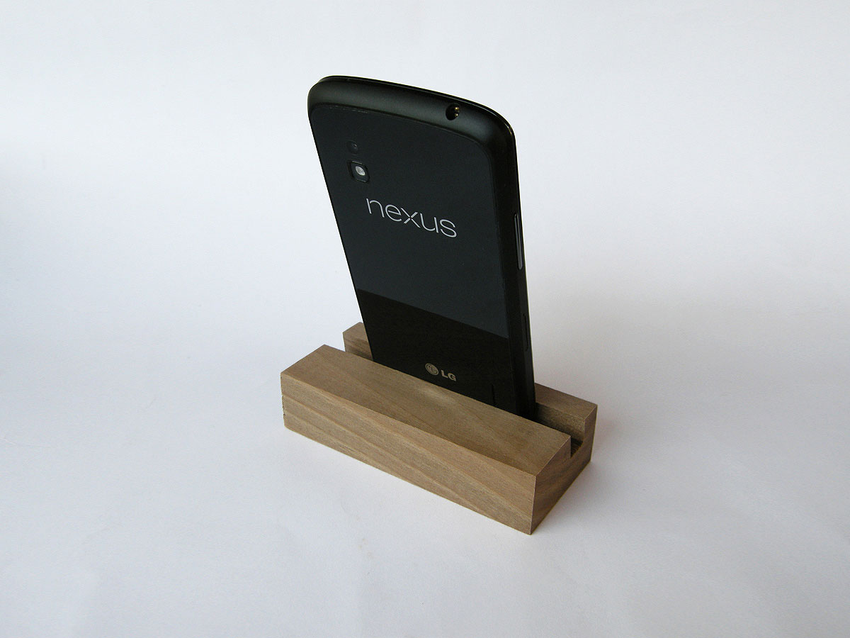 Iphone and ipad air wood docking station dock