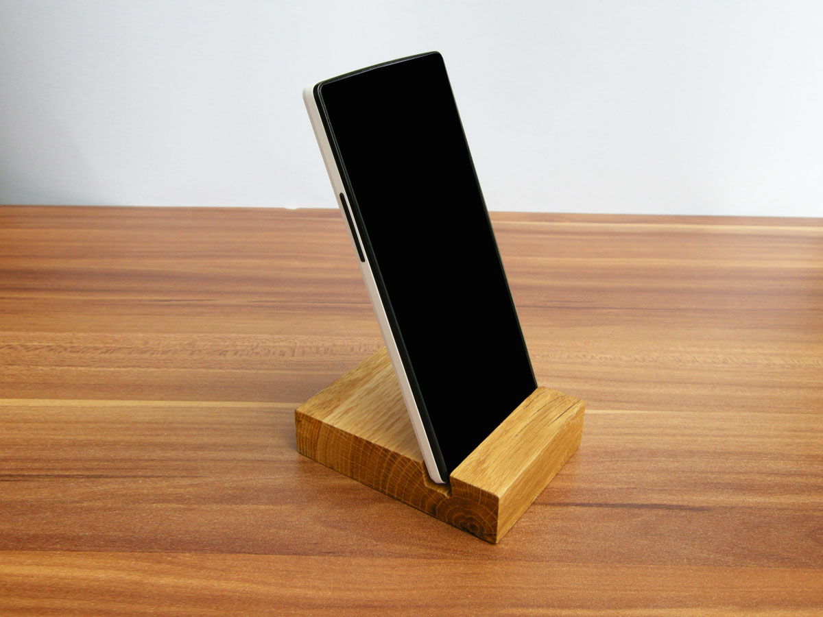 Iphone stand wood wooden oak