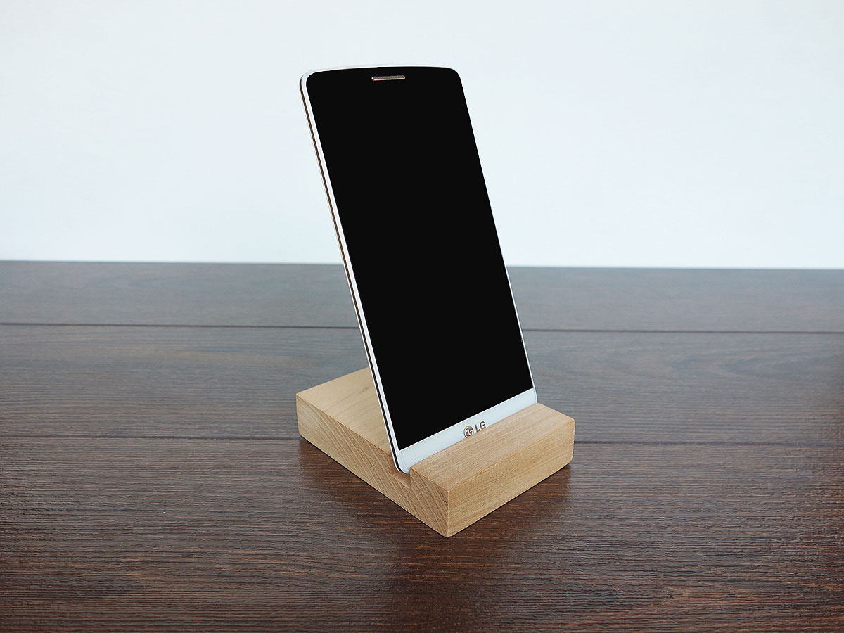 Iphone stand wood wooden