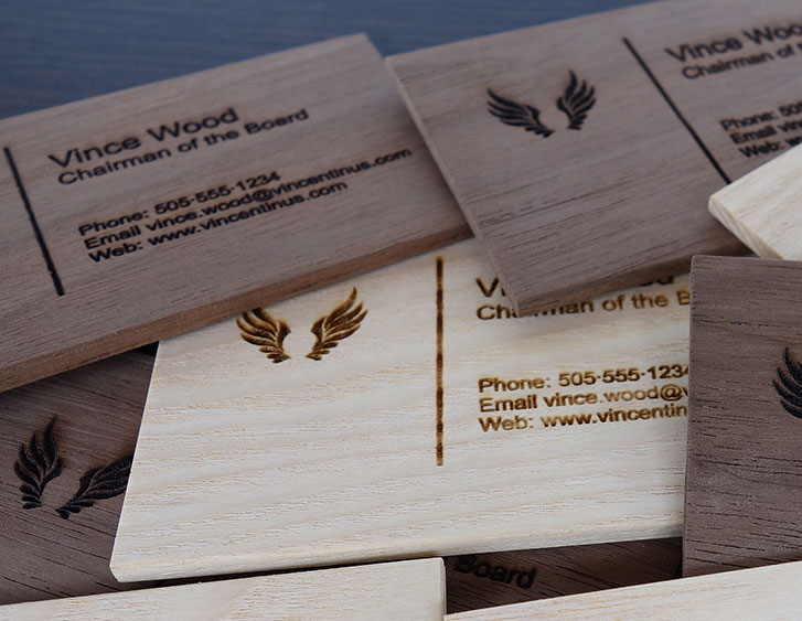 Walnut Wood Table Card 032