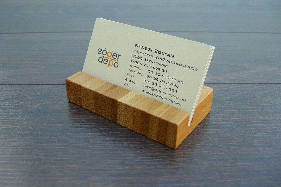 Wood Business Card Holder Bamboo 01