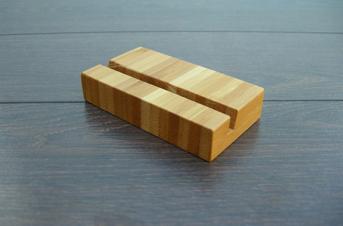 Wood Business Card Holder Bamboo 03