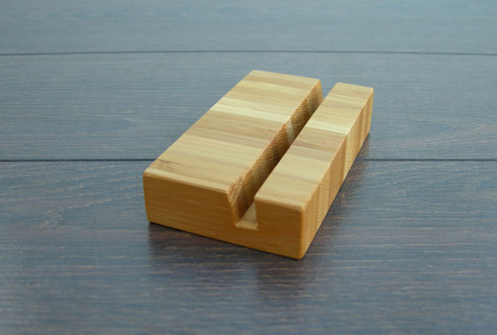 Wood Business Card Holder Bamboo 04