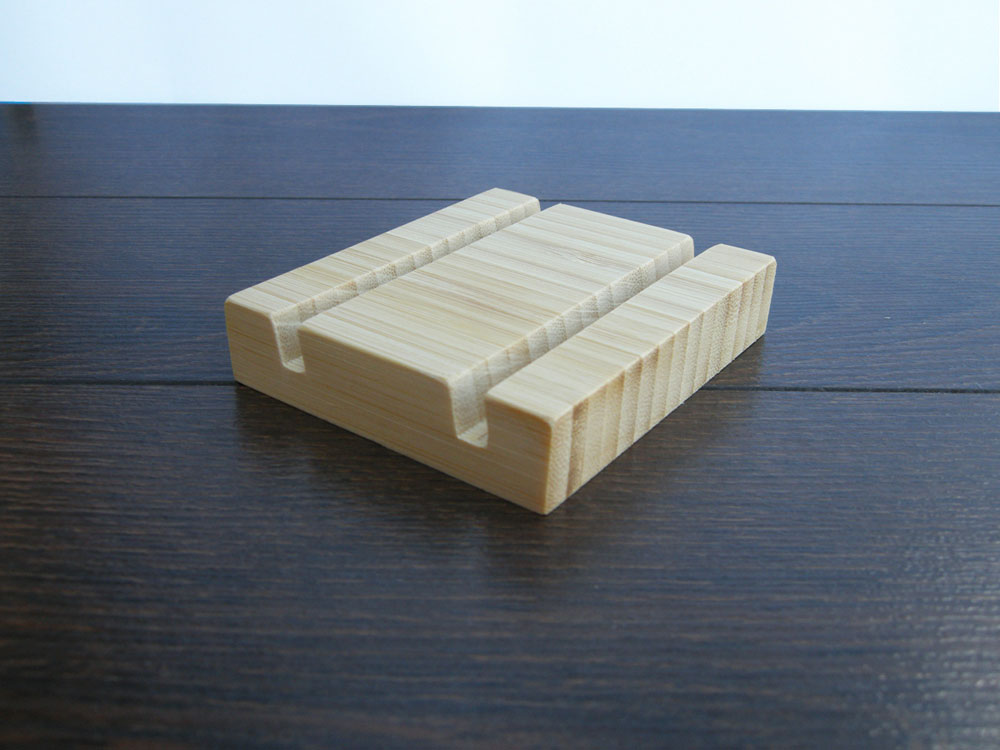 Wood Business Card Holder Double Bamboo 22