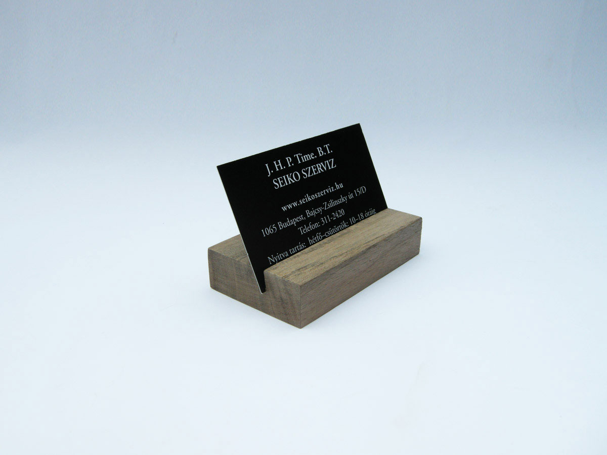 Wood Business Card Holder Walnut 02