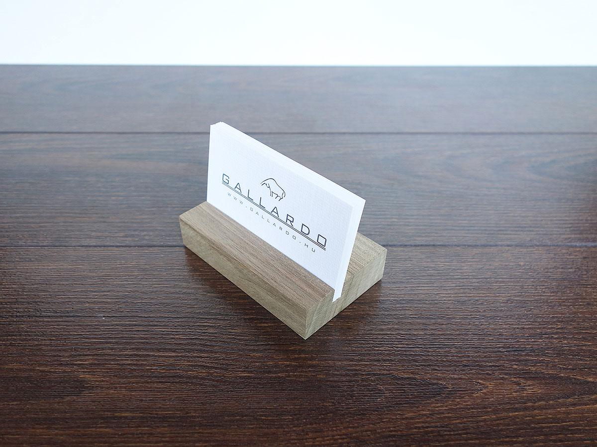 Wood Business Card Holder Walnut 04