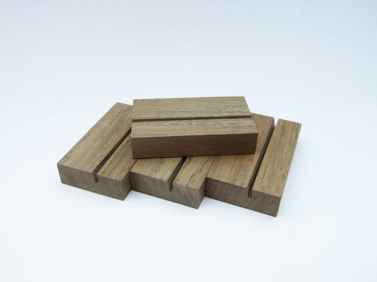 Wood Business Card Holder Walnut 05