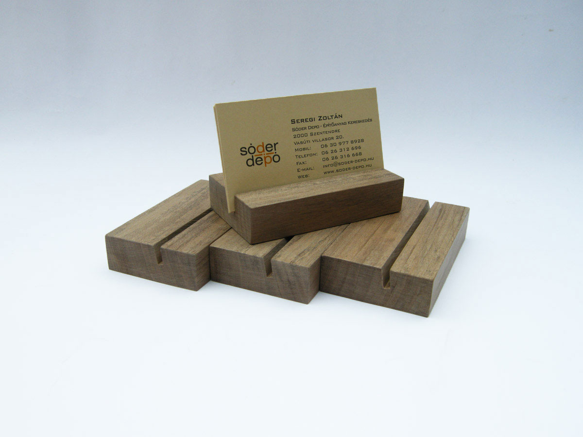 Wood Business Card Holder Walnut 06
