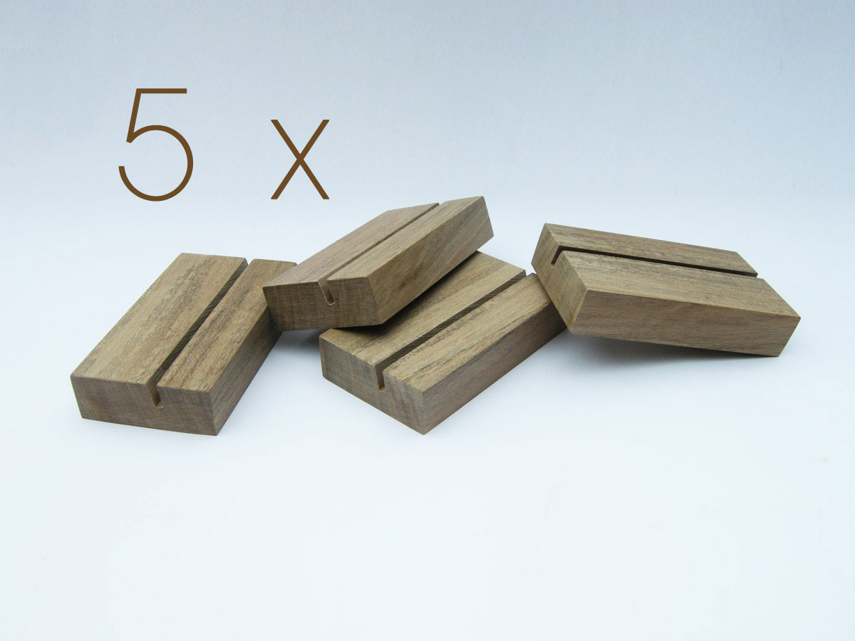 5 X Wood Business Card Holder From Walnut