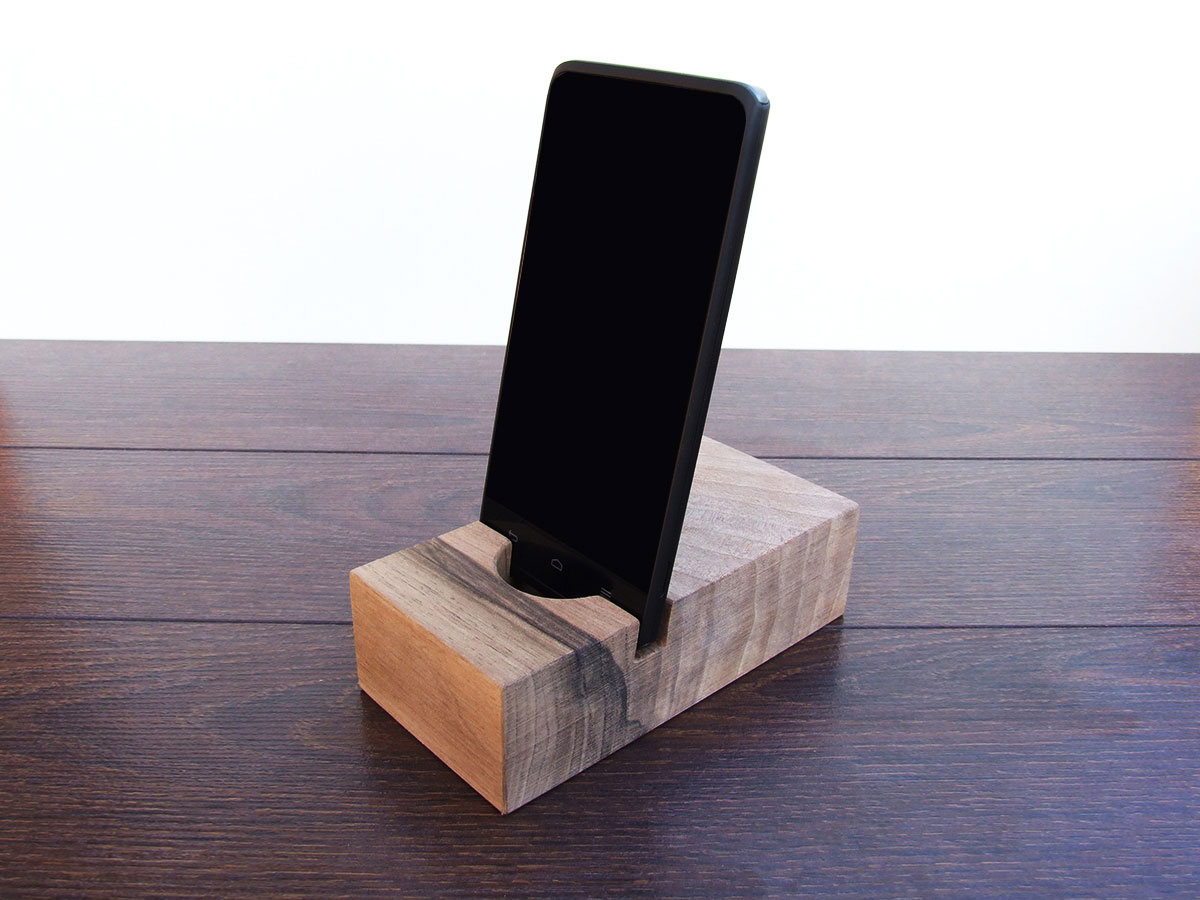 Wood Docking Station Set Walnut 05
