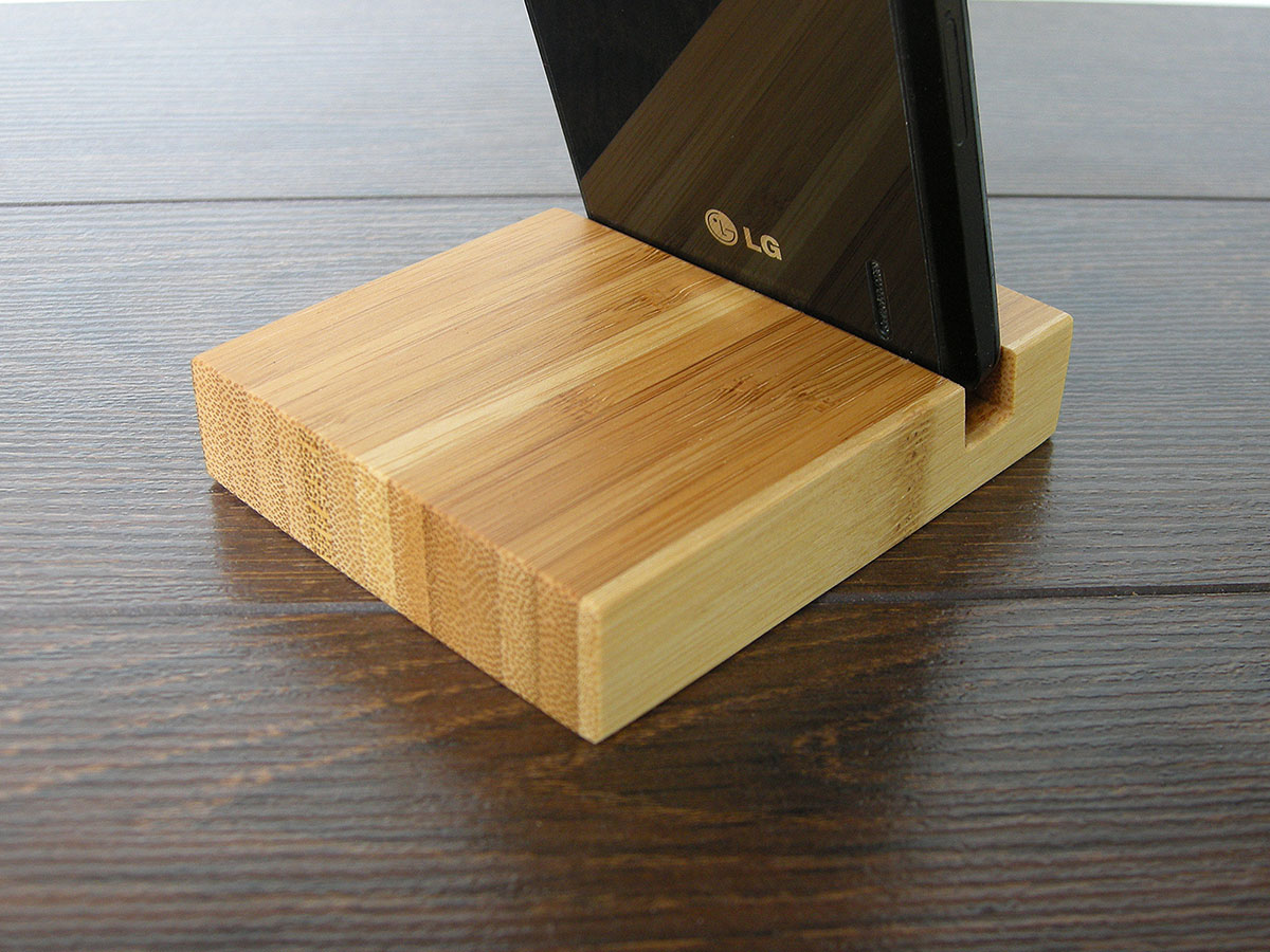 Wood Iphone Stand 97 Bamboo 14