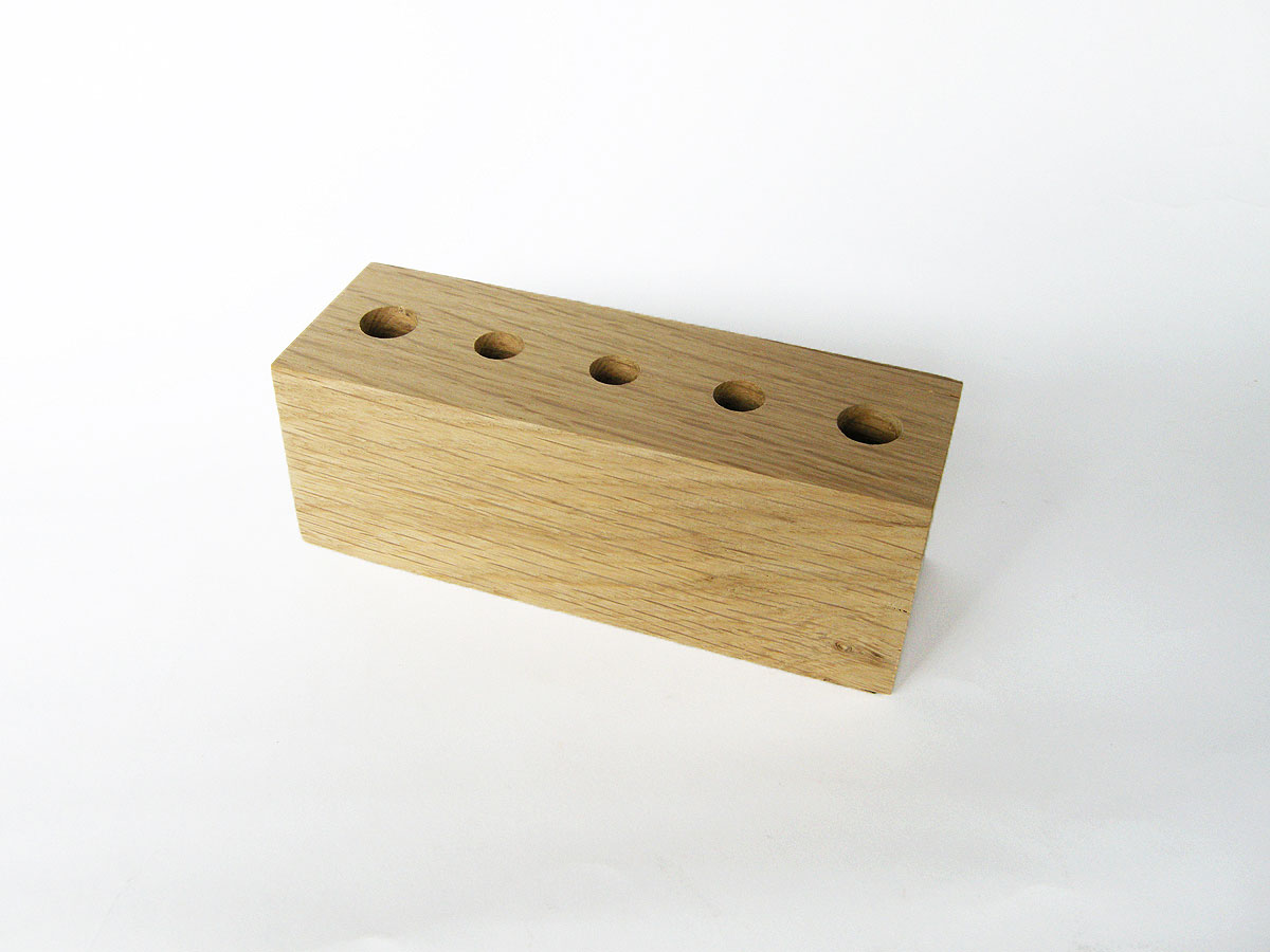 Wood Pen Holder Oak 09