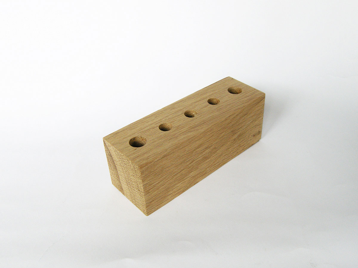 Wood Pen Holder Oak 10