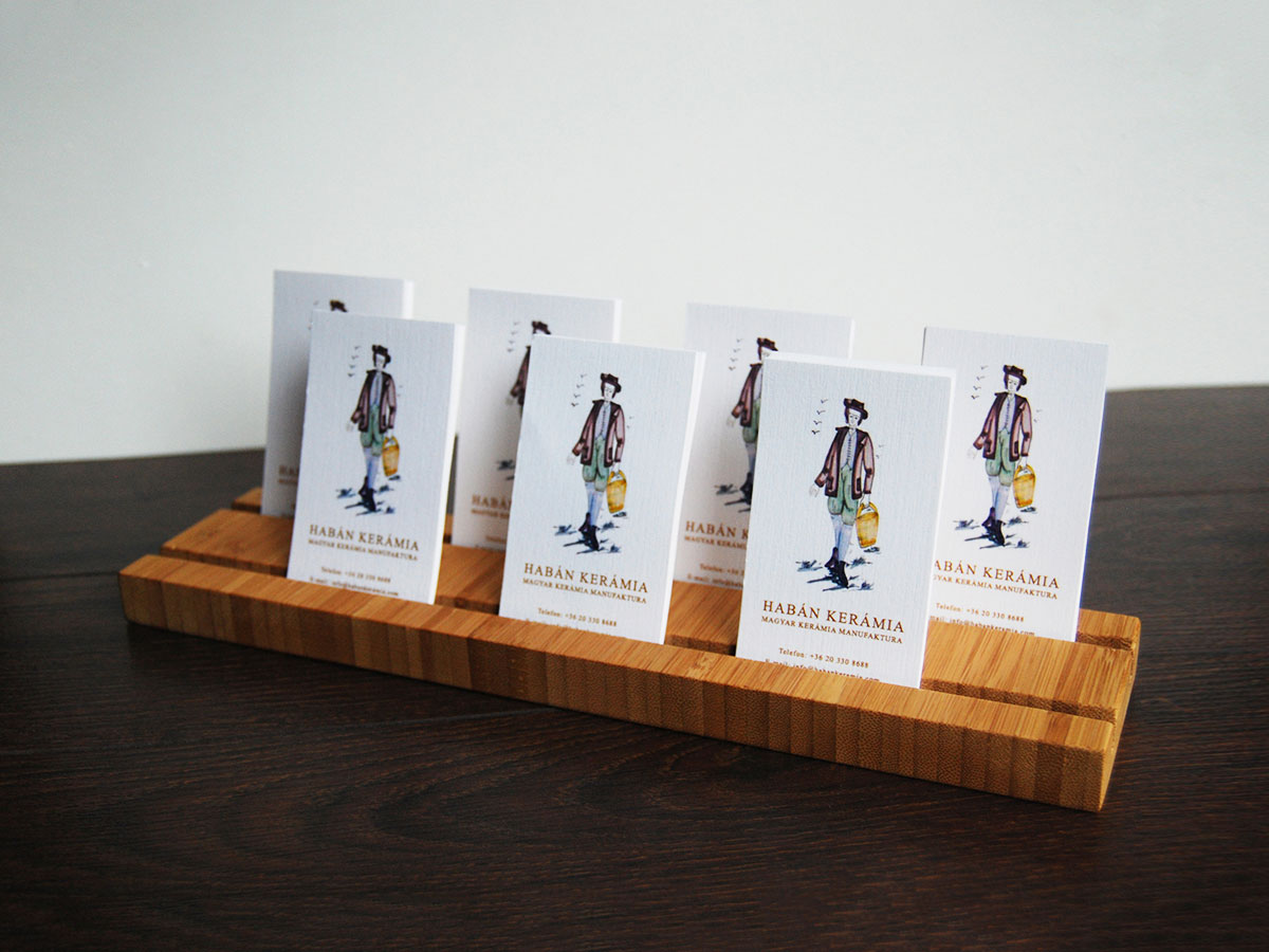 Multiple Wood Business Card Holder From Bamboo