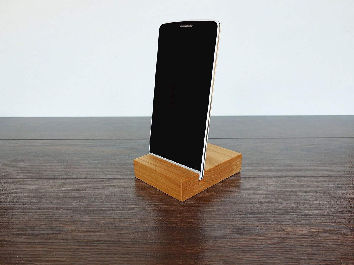 IPhone Stand. Wood IPhone Stand. Wooden IPhone Stand. Cherry IPhone Stand.