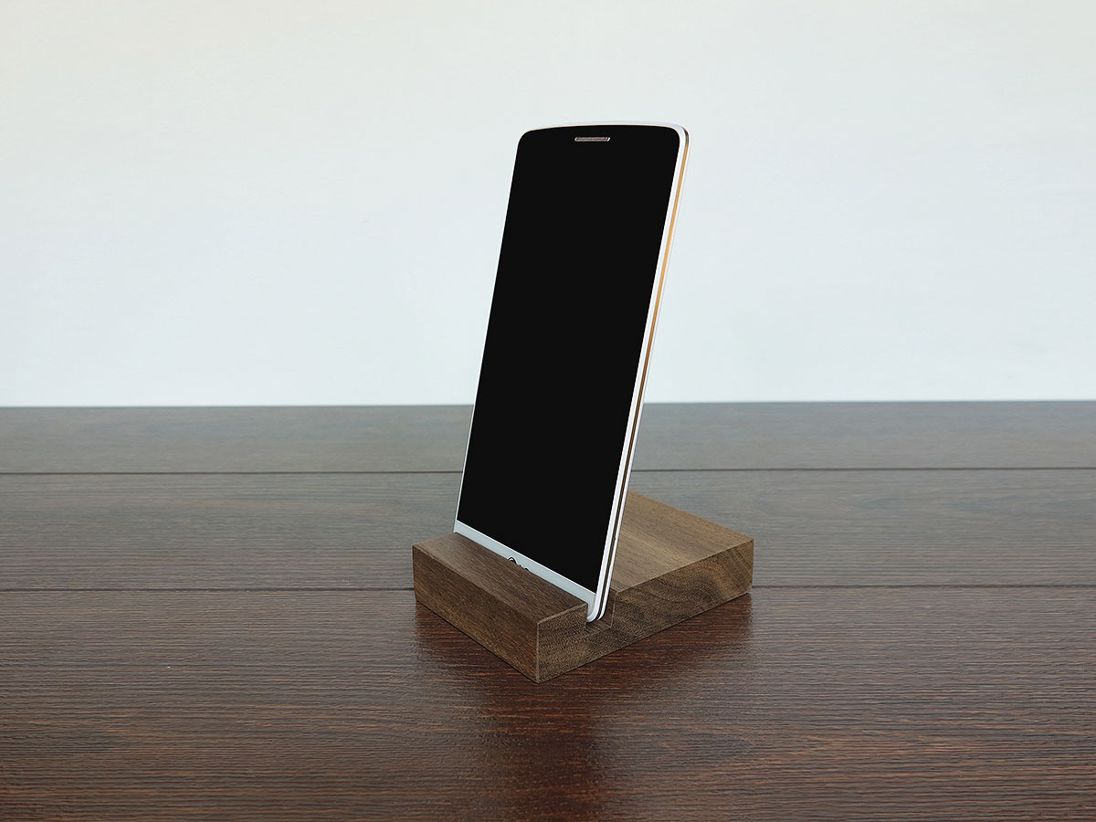 Wood Iphone Stand W01 2