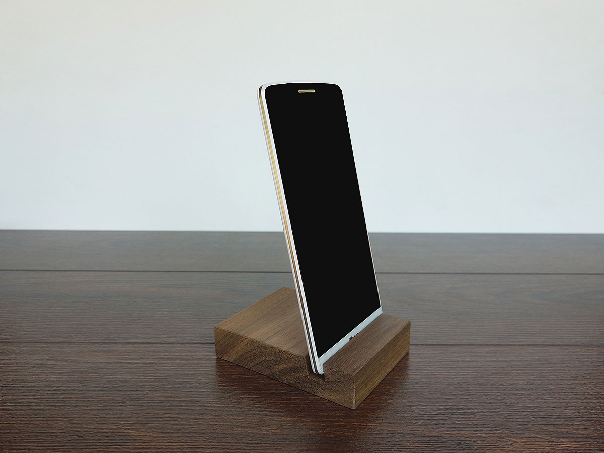 IPhone Stand. Wood IPhone Stand. Wooden IPhone Stand. Walnut IPhone Stand.